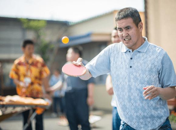 社会福祉法人征峯会ピアしらとり 卓球